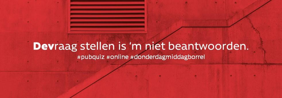 DEVraag stellen is m niet beantwoorden DEv_ real estate pubquiz online studenten